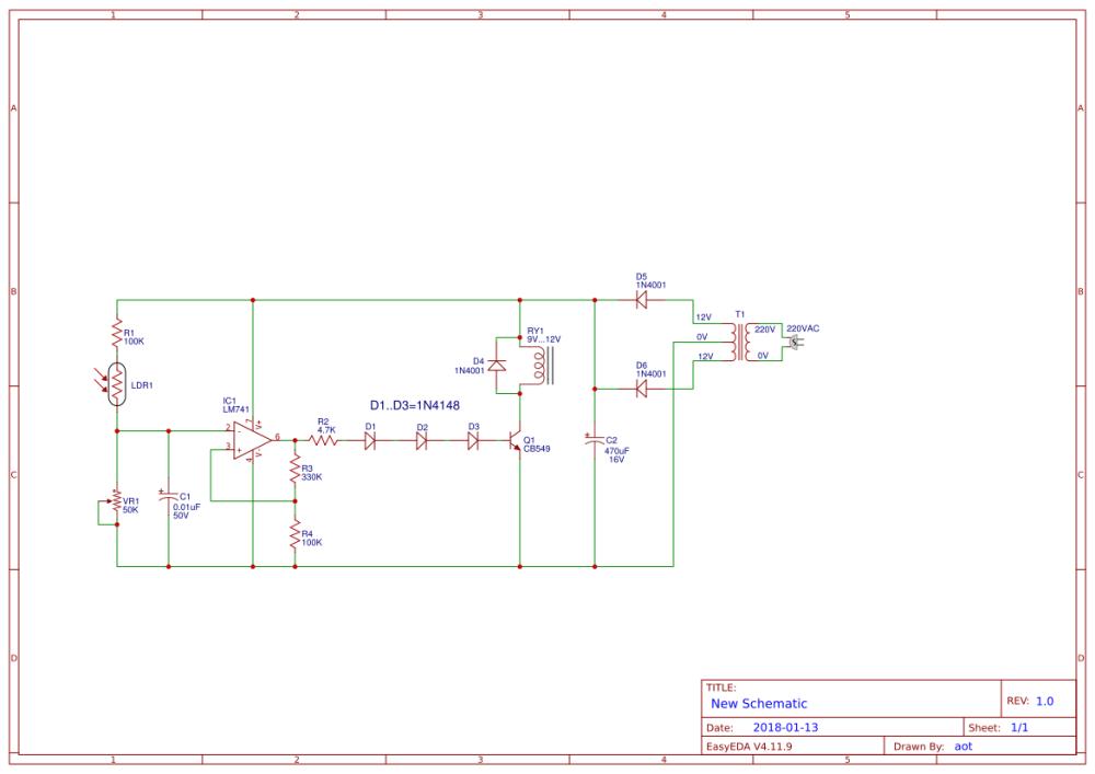 medium resolution of automatic op amp night light circuit using ic 741