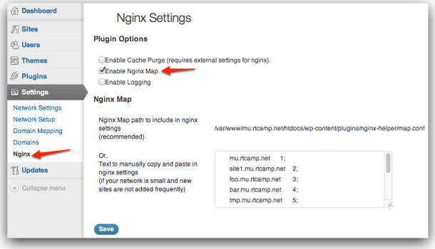 Nginx Maps & WordPress-Multisite - Static files handling