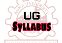 Anna University Syllabus for Regulations 2013 & Anna University Regulations 2017
