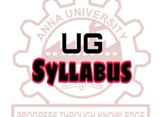 Anna University Syllabus for Regulations 2013 & Anna University Regulations 2017