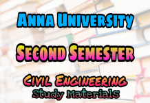 Anna University 2nd Semester Collections