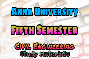Anna University 5th Semester Collections
