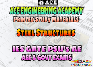 STEEL STRUCTURES ACE ENGINEERING ACADEMY STUDY MATERIAL – REVISED EDITION – PDF FREE DOWNLOAD