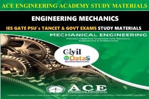ENGINEERING MECHANICS ace notes