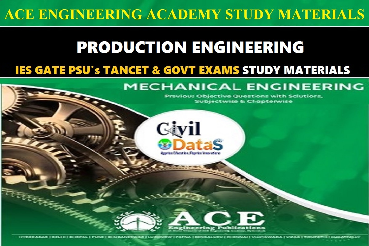 Production Engineering ACE Engineering Academy Hand Written
