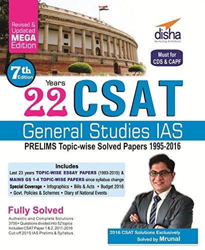 Pdf 22 Years Csat General Studies Ias Prelims Topic Wise