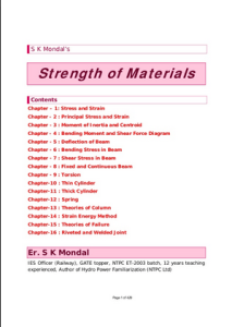 Strength Of Materials By S.K.Mondal