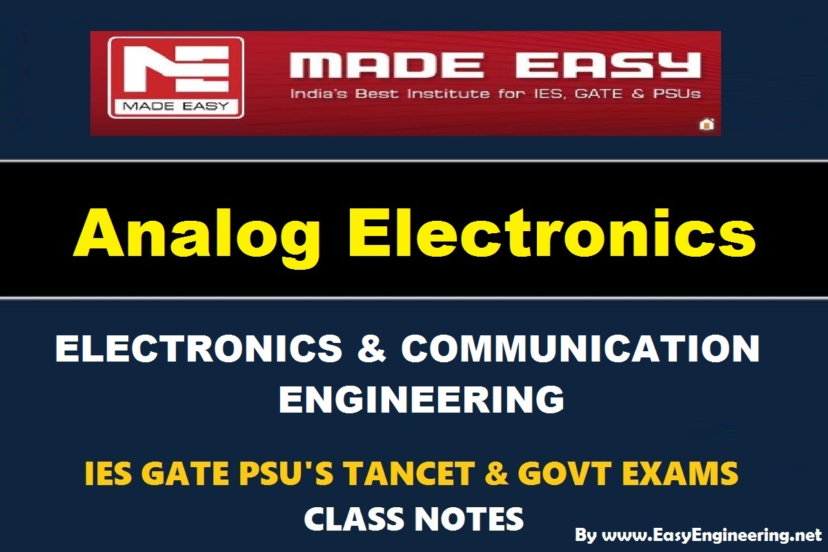 PDF] Analog Electronics EasyEngineering Team Study Materials
