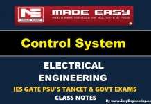 Control System Made Easy IES GATE PSU's TANCET & GOVT Exams Study Material For Electrical Engineering – PDF Free Download
