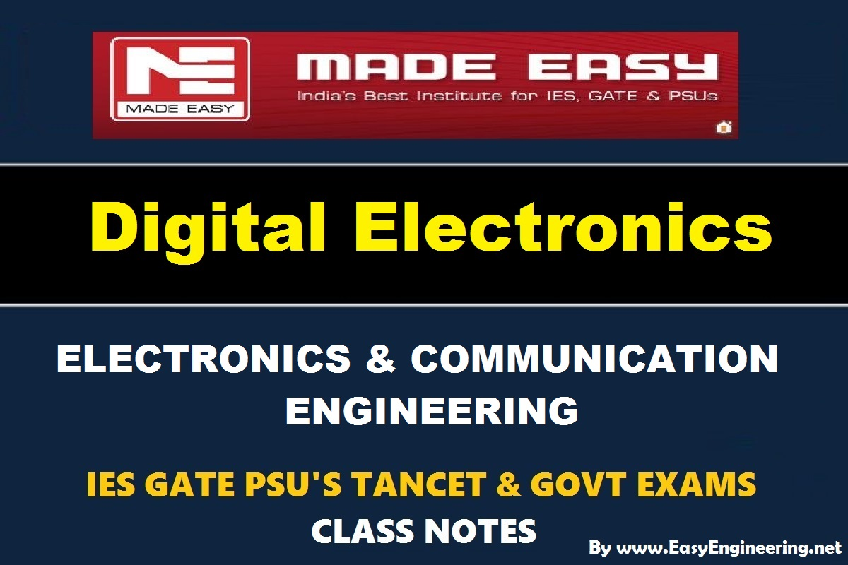 [PDF] Digital Electronics Made Easy Study Materials (Notes) for GATE IES  TANCET & GOVT Exams Free Download – EasyEngineering