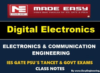 Digital Electronics EasyEngineering Team IES GATE PSU's TANCET & GOVT Exams Study Material For Electrical Engineering – PDF Free Download