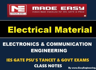 Electrical Material Made Easy IES GATE PSU's TANCET & GOVT Exams Study Material For Electronics Communication Engineering – PDF Free Download