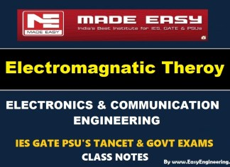 Electro Magnetic Theory EasyEngineering Team Study Materials (Notes) Free Download