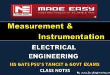 Measurement & Instrumentation Made Easy IES GATE PSU's TANCET & GOVT Exams Study Material For Electrical Engineering – PDF Free Download
