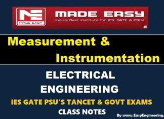 Measurement & Instrumentation EasyEngineering Team IES GATE PSU's TANCET & GOVT Exams Study Material For Electrical Engineering – PDF Free Download