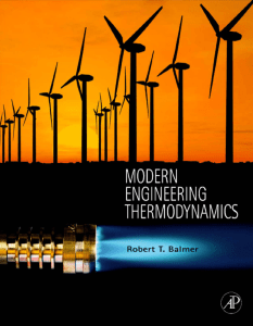 MODERN ENGINEERING THERMODYNAMICS – TEXTBOOK WITH TABLES BOOKLET BY ROBERT T. BALMER DR.