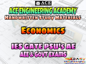 ACE Engineering Academy Economics AE AEE National & State Level Exams Handwritten Notes – PDF Free Download