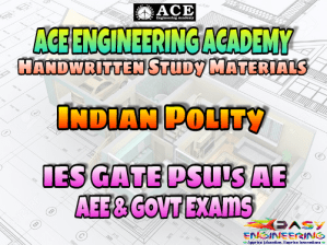 Ace Academy Indian Polity AE AEE National & State Level Exams Handwritten Notes – PDF Free Download