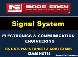 Signal System Made Easy IES GATE PSU's TANCET & GOVT Exams Study Material For Electronics Communication Engineering – PDF Free Download