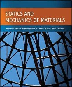 STATICS AND MECHANICS OF MATERIALS BY FERDINAND BEER, E. RUSSELL JOHNSTON, JOHN T. DEWOLF, DAVID MAZUREK