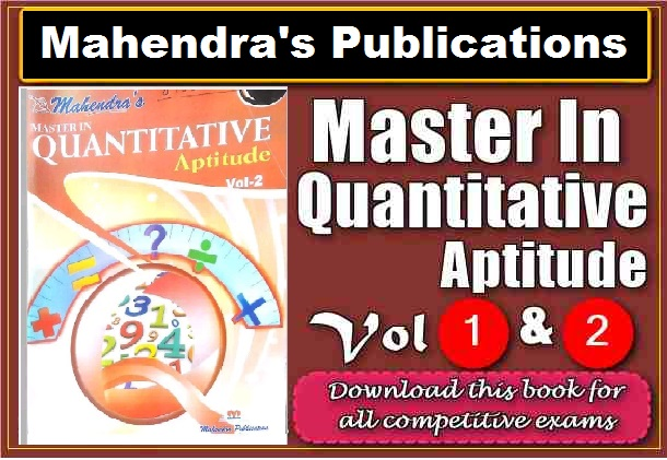 PDF] Mahendra's Master In Quantitative Aptitude Vol 1 & Vol 2 Book