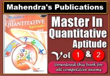 [PDF] Mahendra Master In Quantitative Aptitude Vol 1 & Vol 2 Book Free Download