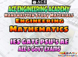Ace Academy Engineering Mathematics AE AEE National & State Level Exams Handwritten Notes - Free Download PDF