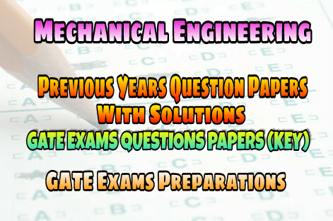 PDF] Mechanical Engineering GATE Previous Years Question