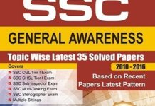 SSC General Awareness Topic-wise Latest 35 Solved Papers (2010-2016) By Disha Experts
