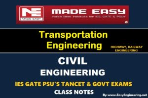 [PDF] EasyEngineering Team Transportation Engineering GATE IES TANCET & GOVT Exams Handwritten Classroom Notes Free Download