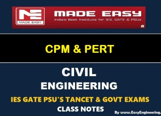 Made Easy CPM & PERT GATE IES TANCET & GOVT Exams Handwritten Classroom Notes