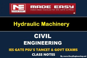 EasyEngineering Team Hydraulic Machinery GATE IES TANCET & GOVT Exams Handwritten Classroom Notes