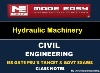 Made Easy Hydraulic Machinery GATE IES TANCET & GOVT Exams Handwritten Classroom Notes