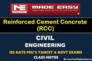 EasyEngineering Team Reinforced Cement Concrete (RCC) GATE IES TANCET & GOVT Exams Handwritten Classroom Notes