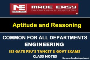 Made Easy Aptitude and Reasoning Notes