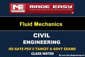 Fluid Mechanics GATE IES TANCET & GOVT Exams Handwritten Classroom Notes