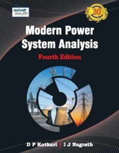 Modern Power System Analysis By D.P. Kothari, I Nagrath