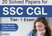 20 Solved Papers for SSC CGL Tier I Exam By Disha Experts