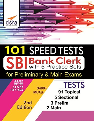 101 Speed Tests for SBI Clerk Preliminary & Mains Exam By Disha Experts