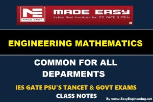 Made Easy Engineering Mathematics Notes