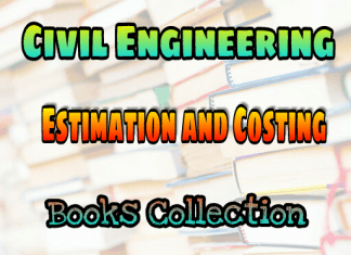 Estimation and Costing Books