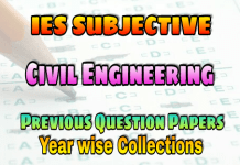 IES Civil Engineering Subjective Previous Years Papers