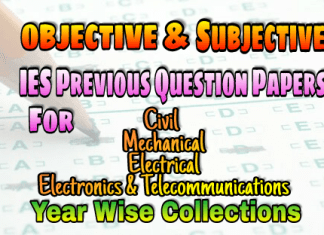 IES (ESE) Subjective and Objective Previous Years Question Papers