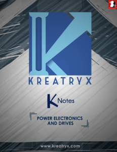 Power Electronics and Drives Kreatryx Study Materials