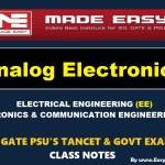 ANALOG ELECTRONICSHandwritten EasyEngineering Team IES GATE PSU's TNPSC TRB TANCET SSC JE AE AEE& GOVT EXAMS Study Materials