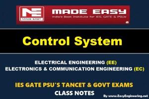 CONTROL SYSTEMHandwritten EasyEngineering Team IES GATE PSU's TNPSC TRB TANCET SSC JE AE AEE& GOVT EXAMS Study Materials