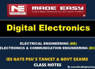 DIGITAL ELECTRONICS Handwritten Made Easy IES GATE PSU's TNPSC TRB TANCET SSC JE AE AEE & GOVT EXAMS Study Materials