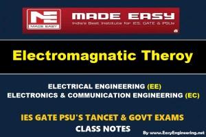 ELECTRO MAGNETIC THEORYHandwritten EasyEngineering Team IES GATE PSU's TNPSC TRB TANCET SSC JE AE AEE& GOVT EXAMS Study Materials