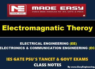 ELECTRO MAGNETIC THEORY Handwritten Made Easy IES GATE PSU's TNPSC TRB TANCET SSC JE AE AEE & GOVT EXAMS Study Materials