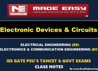 ELECTRONIC DEVICES AND CIRCUITS Handwritten Made Easy IES GATE PSU's TNPSC TRB TANCET SSC JE AE AEE & GOVT EXAMS Study Materials